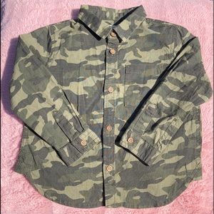 Gymboree, 2T, Camouflage Button-Up Shirt, Collared